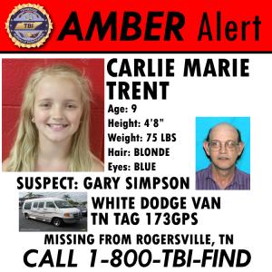 AMBER Alert - Carlie Trent